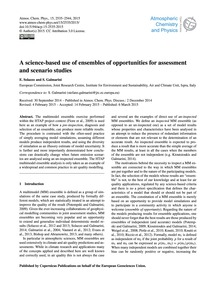 A Science-based Use of Ensembles of Oppo... by Solazzo, E.
