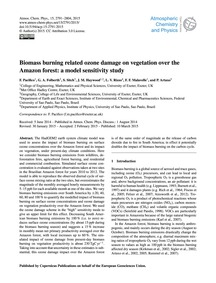 Biomass Burning Related Ozone Damage on ... by Pacifico, F.