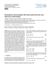 Stratospheric and Mesospheric Ho2 Observ... by Millán, L.