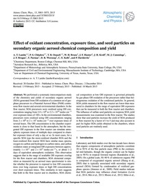 Effect of Oxidant Concentration, Exposur... by Lambe, A. T.