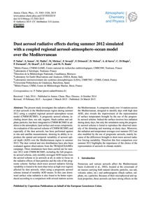Dust Aerosol Radiative Effects During Su... by Nabat, P.