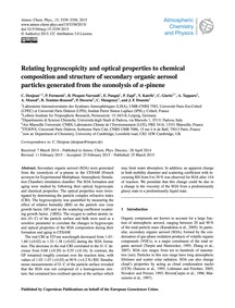 Relating Hygroscopicity and Optical Prop... by Denjean, C.