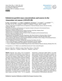 Submicron Particle Mass Concentrations a... by Chen, Q.