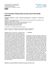 Ccn Activation of Fumed Silica Aerosols ... by Dalirian, M.