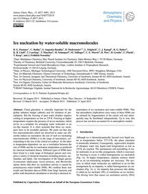 Ice Nucleation by Water-soluble MacRomol... by Pummer, B. G.
