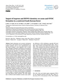 Impact of Isoprene and Hono Chemistry on... by Kim, S.