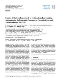 Sources of Black Carbon Aerosols in Sout... by Kumar, R.