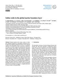 Iodine Oxide in the Global Marine Bounda... by Prados-roman, C.