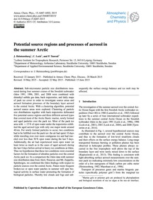 Potential Source Regions and Processes o... by Heintzenberg, J.