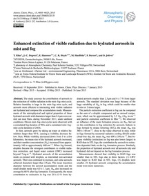 Enhanced Extinction of Visible Radiation... by Elias, T.
