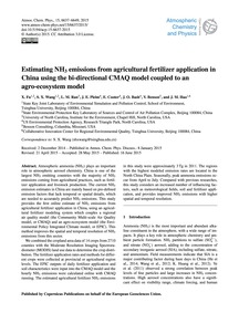 Estimating NH3 Emissions from Agricultur... by Fu, X.