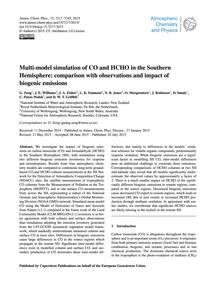 Multi-model Simulation of Co and Hcho in... by Zeng, G.