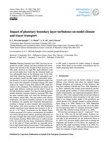 Impact of Planetary Boundary Layer Turbu... by McGrath-Spangler, E. L.