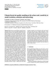 Climate-forced Air-quality Modeling at t... by Markakis, K.