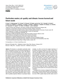 Particulate Matter, Air Quality and Clim... by Fuzzi, S.