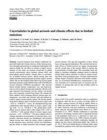 Uncertainties in Global Aerosols and Cli... by Kodros, J. K.