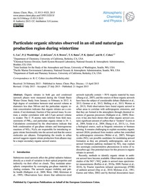 Particulate Organic Nitrates Observed in... by Lee, L.