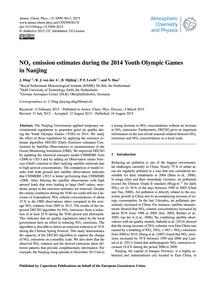 NoX Emission Estimates During the 2014 Y... by Ding, J.
