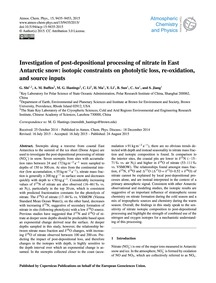 Investigation of Post-depositional Proce... by Shi, G.