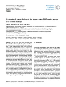 Stratospheric Ozone in Boreal Fire Plume... by Trickl, T.