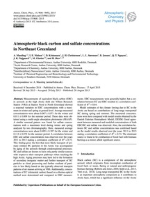 Atmospheric Black Carbon and Sulfate Con... by Massling, A.