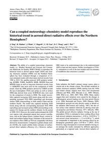 Can a Coupled Meteorology–chemistry Mode... by Xing, J.