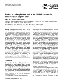 The Flux of Carbonyl Sulfide and Carbon ... by Xu, X.