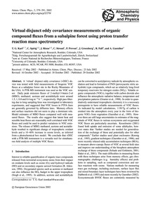Virtual Disjunct Eddy Covariance Measure... by Karl, T. G.