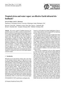 Tropical Cirrus and Water Vapor: an Effe... by Fu, Q.