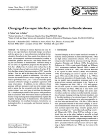 Charging of Ice-vapor Interfaces: Applic... by Nelson, J.