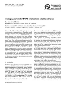 Averaging Kernels for Doas Total-column ... by Eskes, H. J.