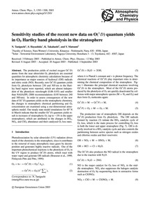 Sensitivity Studies of the Recent New Da... by Taniguchi, N.
