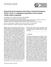 Protocol for the Development of the Mast... by Saunders, S. M.