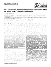 Ftir Spectroscopic Studies of the Simult... by Xueref, I.