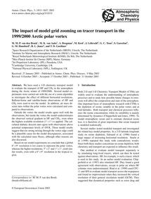 The Impact of Model Grid Zooming on Trac... by Van Den Broek, M. M. P.