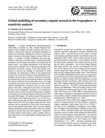 Global Modelling of Secondary Organic Ae... by Tsigaridis, K.