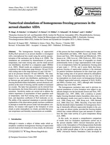 Numerical Simulations of Homogeneous Fre... by Haag, W.