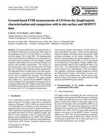 Ground-based Ftir Measurements of Co fro... by Barret, B.
