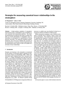 Strategies for Measuring Canonical Trace... by Morgenstern, O.