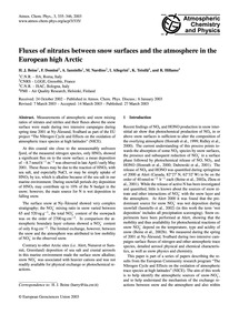 Fluxes of Nitrates Between Snow Surfaces... by Beine, H. J.
