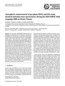 Atmospheric Measurements of Gas-phase Hn... by Hanke, M.