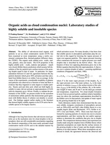 Organic Acids as Cloud Condensation Nucl... by Pradeep Kumar, P.