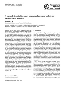 A Numerical Modelling Study on Regional ... by Lin, X.