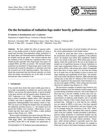 On the Formation of Radiation Fogs Under... by Kokkola, H.