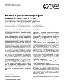 Sensitivities in Global Scale Modeling o... by Von Kuhlmann, R.