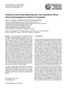 Analysis of a Jet Stream Induced Gravity... by Buss, S.