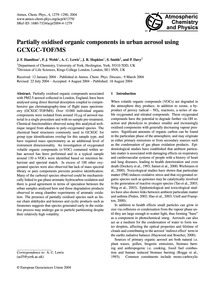 Partially Oxidised Organic Components in... by Hamilton, J. F.