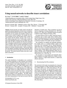 Using Neural Networks to Describe Tracer... by Lary, D. J.