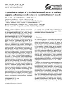 A Quantitative Analysis of Grid-related ... by Esler, J. G.