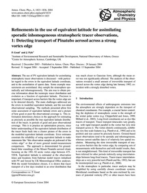 Refinements in the Use of Equivalent Lat... by Good, P.
